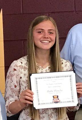 Halle Hirschi awarded Utah Sports Hall of Fame Scholarship