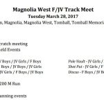 Magnolia West Hosts Freshmen and JV Track Meet