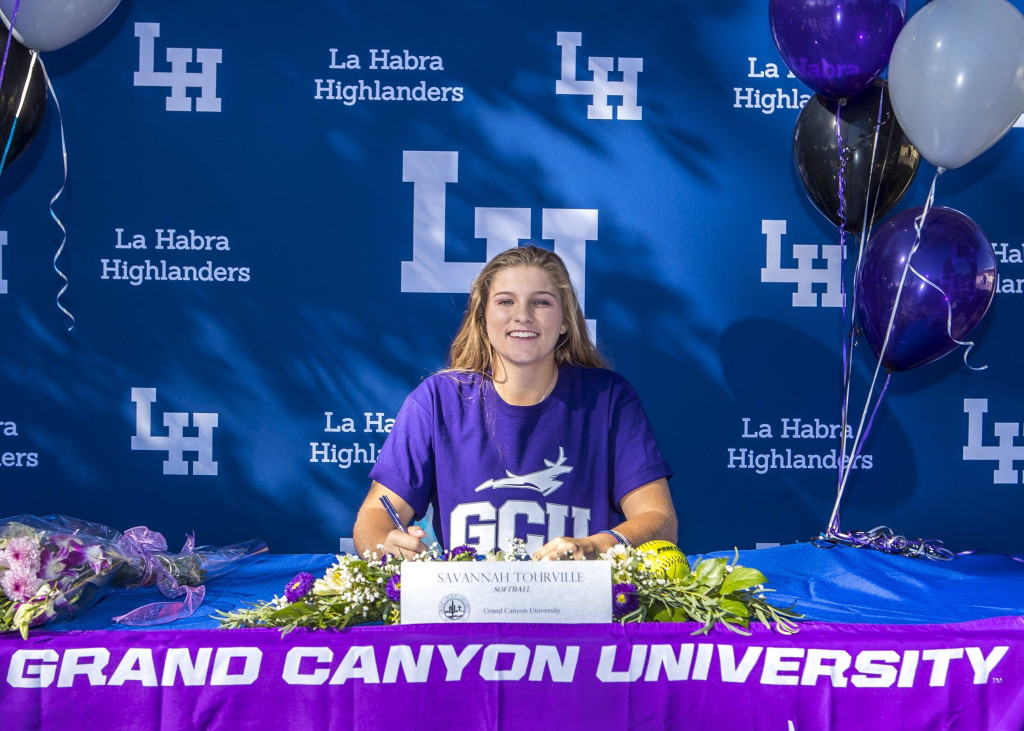 Savannah Tourville signs her NLI to attend Grand Canyon University