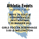 Athletic Events 8/7/19