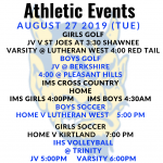 Athletic Events 8/27/19