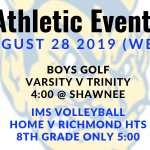 Athletic Events 8/28/19