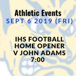 Athletic Events 9/6/19