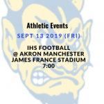 Athletic Events 9/13/19