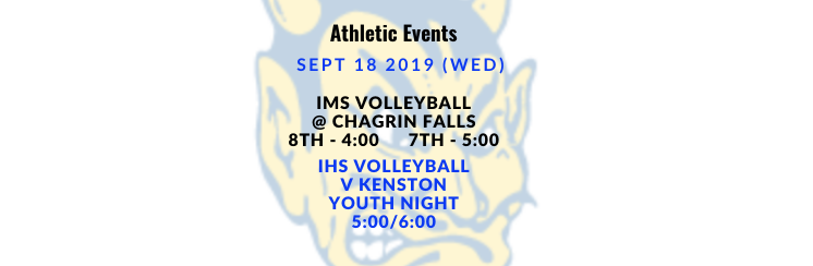 Athletic Events 9/18/19