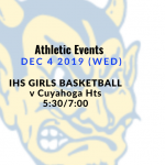 Athletic Events 12/4/19 (Wed)