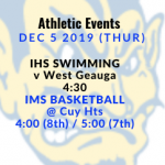Athletic Events 12/5/19