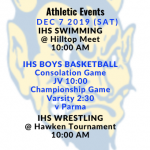 Athletic Events 12/7/19