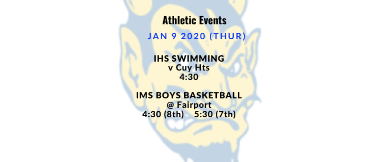 Athletic Events 1/9/2020