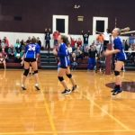 BBJH Girls 8th Grade Volleyball B beat Magnolia Junior High 2-1