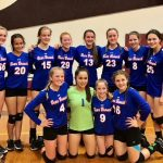 BBJH Girls 8th Grade Volleyball A beat Magnolia Junior High 2-1