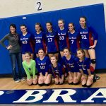 Girls 7th Grade Volleyball beats Woodridge Forest JH 2 – 0