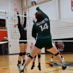 Varsity Volleyball team defeat Reed City in 3 sets