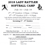 Lady Rattler Softball Camp July 16-18