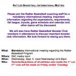 Men's Basketball Parent Meeting