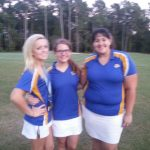Senior golfers play last match