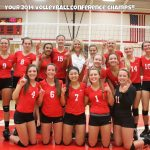 Volleyball Tops FHE–Shares Conference!