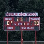 Middle School Football Defeats Oberlin