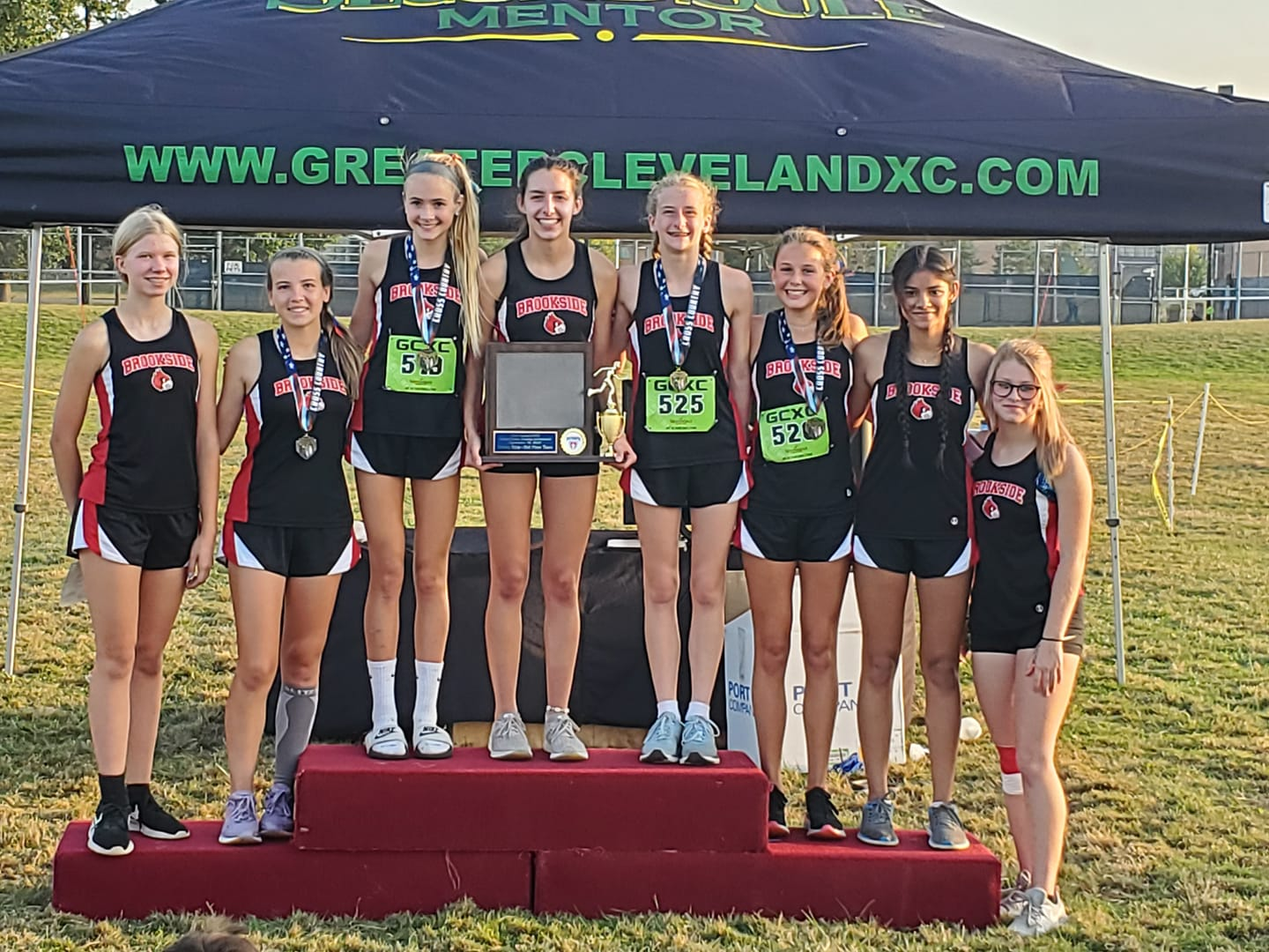 Girls Varsity Cross Country finishes 2nd place at Open Door Invitational