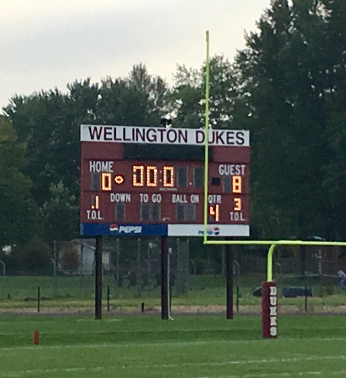 Middle School Football Shuts Out Wellington