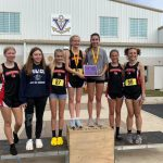 Girls Varsity Cross Country finishes 1st place at Vermilion Invitational