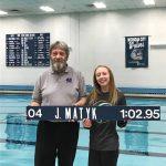 Hannah Tubbs sets school record in 100 backstroke