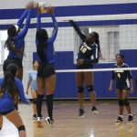 Girls Varsity Volleyball beats LaMarque 3 – 0