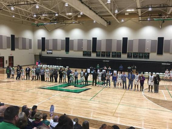 EHS Basketball Teams Celebrate 11 Seniors