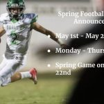 Spring Football Starts Tomorrow 5/1