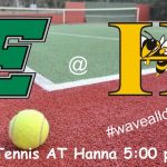 Boys' Tennis travels to Hanna today 4/10