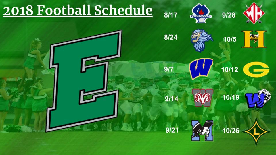 2018 Varsity Football Schedule Released