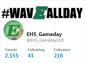 Please follow @EHS_GamedayLive on Twitter and Facebook