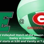 First Volleyball Match Today August 22nd