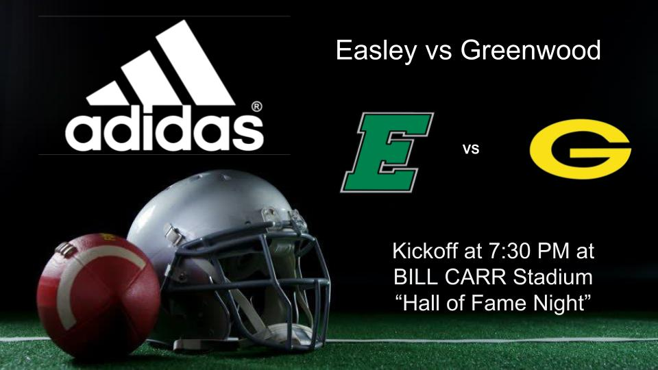 1cea059d0 The Easley football team will play Greenwood tonight at 7 30! The 2018 Hall  of Fame class will be honored during half time. Come out and support the  Green ...