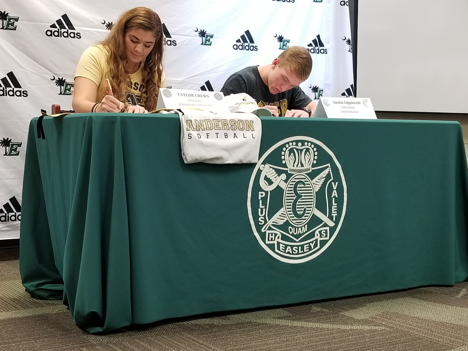 Easley Student-Athletes Commit to College in Fall Signing Ceremony