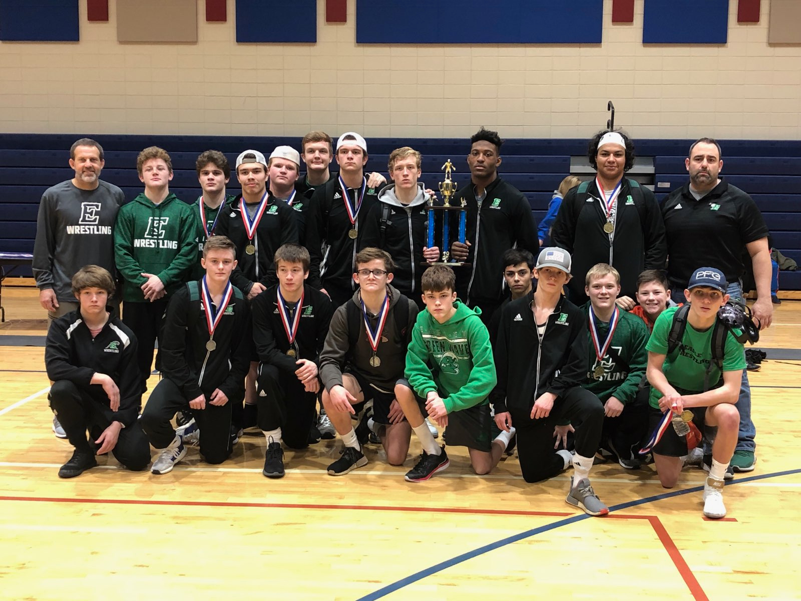 Easley Wrestling wins Pickens County Duals