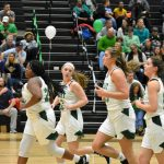 Girls basketball senior night photos