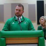 Easley introduces new head football coach
