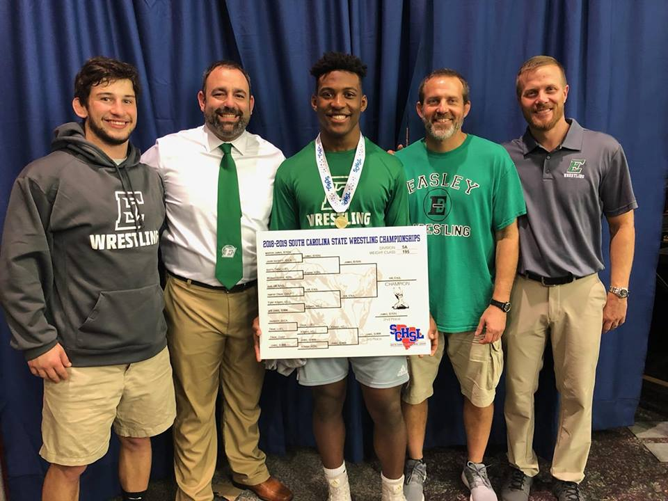 Josh Hill wins Easley High's first wrestling state championship