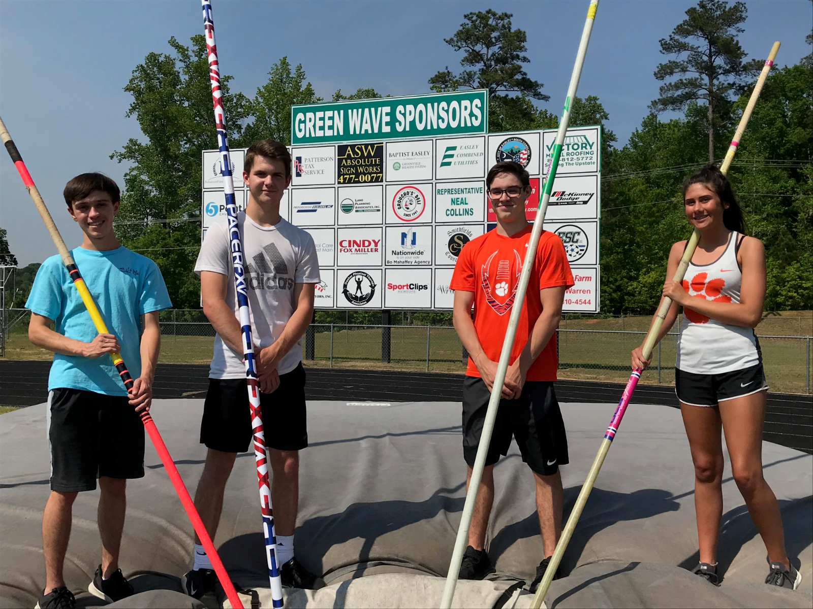 Four EHS Pole Vaulters headed to State Qualifier