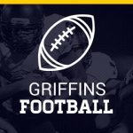 Griffins football outline of football