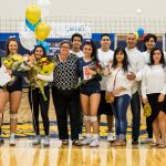 Big Celebration at the Women's Varsity Volleyball Senior Night