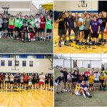 boys soccer, girls basketball, boys basketball, and girls soccer team pictures