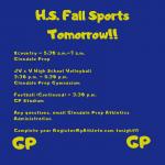 Fall Tryouts Start Dates!