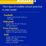 August 19th – First Day of Middle School Practice!
