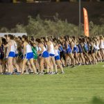 cross country girls at start line