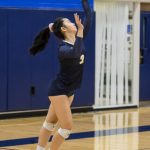 volleyball girl jump serves