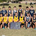 The Boys and Girls Glendale Cross Country team are posing for the photo.