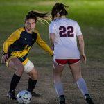 Girl Dribbling Soccer Ball