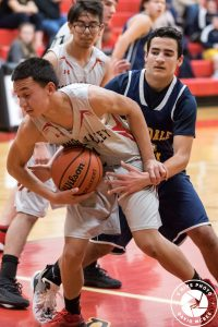 Boy Defending Basketball Player
